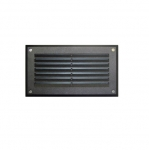 5W 9-in LED Recessed Step Light w/Aluminum Louver, PL LED, 3000K, Black
