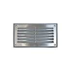 5W 9-in LED Recessed Step Light w/Aluminum Louver, PL LED, 3000K, Stainless Steel