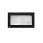 5W 9-in LED Recessed Step Light, Open Face, PL LED, 3000K, Black