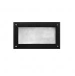 7W 9-in LED Recessed Step Light, Open Face, G24 Bulb, 5000K, Black