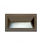 7W 9-in LED Recessed Step Light w/Hood, G24 Bulb, 3000K, Bronze