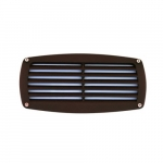 12W LED Recessed Louvered Step Light, 3000K, Bronze