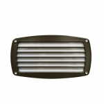 12W LED Recessed Striped Step Light, 3000K, Bronze