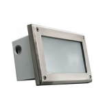 12W LED Recessed Open Face Step Light, Rectangular, 5000K, Stainless Steel