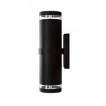 7W LED PAR20 Wall Sconce, 2 Lamps, 6000K, Black