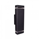 5W LED GU24 Wall Sconce, 2 Lamps, 3000K, Black