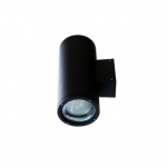 18W LED Wall Sconce, 2 Lamps, Spot, 6400K, Black