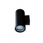 18W LED Wall Sconce, 2 Lamps, Spot, 6400K, Black