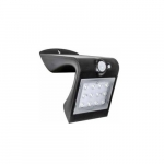 1.5W LED Outdoor Solar Wall Light, 200 lm, 4000K, Black