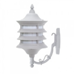 9W LED Wall Light Fixture, Single-Head, A19, 120V, White