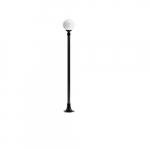 16W Emily Single Head LED Post Light Fixture, Bronze