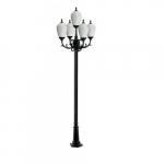 16W Alisa Five Light LED Lamp Post w/Polycarbonate Lens, Verde Green