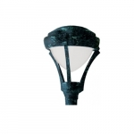 30W Architectural LED Post Light Top Fixture w/PC Lens, Verde Green