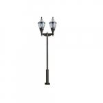 75W Two Light Clear Top Acorn LED Lamp Post Fixture w/PC Lens, Bronze