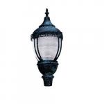 75W Clear Acorn LED Post Top Fixture w/Mogul Base, DLC, Verde Green