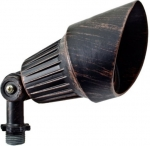 3W LED Directional Spot Light w/Hood, MR16, Bi-Pin Base, Rusted