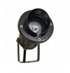 3W LED Directional Spot Light w/Hood, MR16, Bi-Pin Base, Black