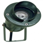 3W LED Directional Spot Light w/Hood, MR16, Bi-Pin Base, Green