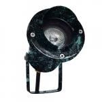 3W LED Directional Spot Light w/Hood, MR16, Bi-Pin Base, Verde Green