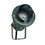 7W LED Directional Spot Light w/Hood, MR16, Bi-Pin Base, Green