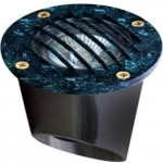 7W LED In-Ground Well Light w/Grill, MR16, Verde Green