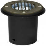 3W LED In-Ground Well Light w/Grill, MR16, Bronze