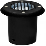 7W LED In-Ground Well Light w/Grill, MR16, Black