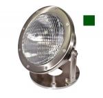 16W LED Underwater Light w/Green Bulb, PAR56