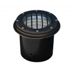 14W LED In-Ground Well Light w/Grill, Adjustable, Bronze