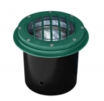 14W LED In-Ground Well Light w/Grill, Adjustable, Green