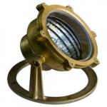 9W LED Underwater Light, Brass