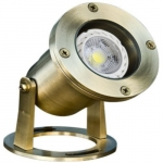 3W LED Underwater Light, Pond And Fountain, Brass