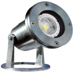 3W LED Underwater Light, Pond And Fountain, Stainless Steel