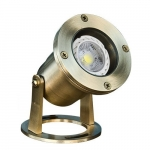 7W LED Underwater Light, Pond And Fountain, Brass