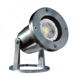 7W LED Underwater Light, Pond And Fountain, Stainless Steel