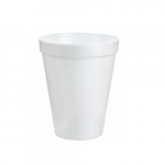 8oz Foam Cups, White
