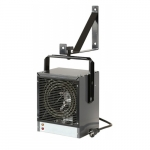 4000W Garage & Workshop Heater, Up to 500 Sq Ft, 13650 BTU/H, 240V, Gray