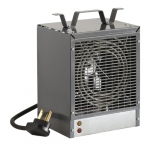 4800W Portable Construction Heater, Fan-Forced, 16377 BTU/H, 240V, Grey