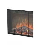 "33"" Black Glass Door kit for Built-In Electric Firebox"