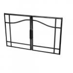 "39"" Glass Swing Doors for Built-In Firebox, Black Trim"