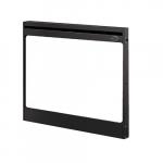 "33"" Single-Pane Glass Panel Kit, Tamperproof, Black"