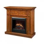 "1375W 48"" Caprice Electrical Fireplace Mantel, Oak"