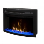 """23"""" LED Premium Electronic Fireplace, Curved Glass"""