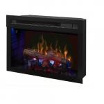 "25"" LED Premium Electronic Fireplace, Hanging Glass, Log set"