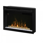 "33"" LED Premium Electrical Fireplace, Hanging Glass, Logset"