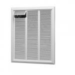 4800W/3600W Large Wall Heater, Single Pole, 240/208V, Almond
