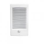 500W Fan-Forced Wall Heater, Small, 120V, White Finish