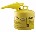 5 Gallon Metal Yellow Type I Safety Can w/Funnel