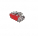 2-Port Red Push-In Wire Connectors