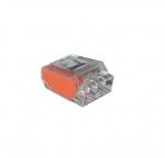 3-Port Orange Push-In Wire Connectors